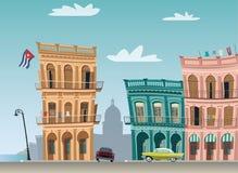 Edificios de La Habana Imágenes de archivo libres de regalías