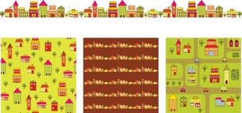 Edificios de la historieta stock de ilustración
