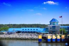 Edificios de la línea de costa Fotos de archivo libres de regalías