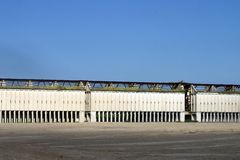 Edificios de la mina del fosfato Fotografía de archivo