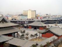Edificios de la obra clásica china en ciudad del datong Foto de archivo libre de regalías