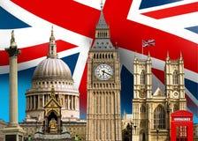 Edificios de la señal de Londres Fotografía de archivo libre de regalías