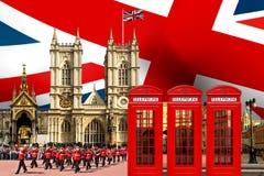 Edificios de la señal del horizonte de Londres Foto de archivo