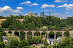 Edificios de la unión europea en Luxemburgo imagen de archivo libre de regalías