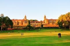 Edificios de la unión, Pretoria en la puesta del sol Foto de archivo
