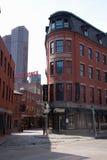 Edificios de ladrillo rojo en North End Fotos de archivo libres de regalías