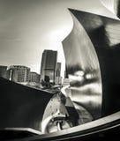 Edificios de Los Ángeles tirados en blanco y negro fotos de archivo