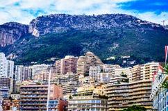 Edificios de Mónaco Imagenes de archivo