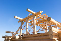 Edificios de madera del detalle Imagen de archivo