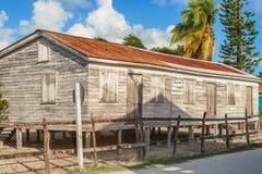 Edificios de madera en el calafate de Caye, Belice foto de archivo libre de regalías