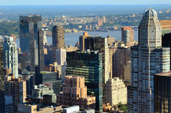 Edificios de New York City Imágenes de archivo libres de regalías