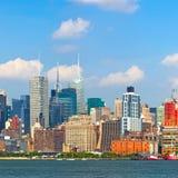 Edificios de New York City, Manhattan Foto de archivo libre de regalías
