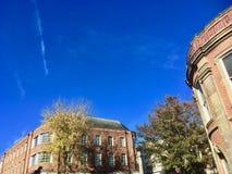 Edificios de Newcastle-debajo de-lyme foto de archivo libre de regalías
