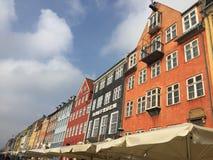 Edificios de Nyhavn en Copenhague, Dinamarca fotos de archivo