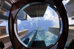 Edificios de oficinas céntricos Imagen de archivo libre de regalías