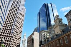 Edificios de oficinas, ciudad de Boston Fotos de archivo libres de regalías