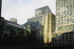 Edificios de oficinas de ciudad Foto de archivo libre de regalías