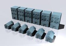 Edificios de oficinas de las casas y de las propiedades horizontales Imágenes de archivo libres de regalías