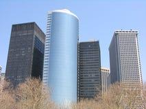 Edificios de oficinas de NY Imagen de archivo libre de regalías