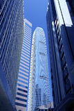 Edificios de oficinas - distrito financiero - Hong Kong Imágenes de archivo libres de regalías