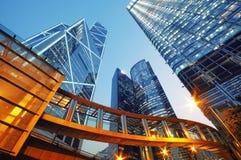 Edificios de oficinas en Hong-Kong Foto de archivo libre de regalías