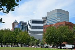 Edificios de oficinas en Portland, Oregon Fotos de archivo