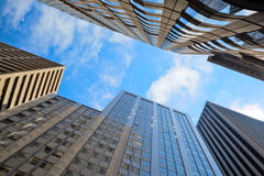 Edificios de oficinas en San Francisco céntrico Fotos de archivo