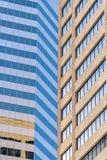 Edificios de oficinas modernos de ciudad en Denver Colorado Imágenes de archivo libres de regalías