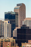 Edificios de oficinas modernos de ciudad en Denver Colorado Fotos de archivo