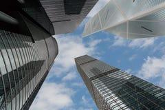 Edificios de oficinas modernos en Hong Kong Fotos de archivo libres de regalías