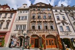 Edificios de Praga Imagen de archivo libre de regalías