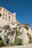 Edificios de Storic en Cagliari imagenes de archivo