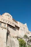 Edificios de Storic en Cagliari fotografía de archivo