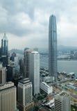 Edificios del anuncio publicitario de Hong-Kong Imagen de archivo libre de regalías