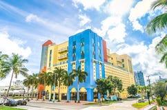 Edificios del art déco en Miami Fotografía de archivo