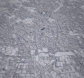 Edificios del centro 3d de Milán del mapa fotos de archivo