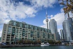 Edificios del centro de ciudad de la costa de Toronto Fotografía de archivo