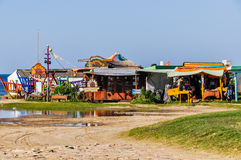 Edificios del hippy, Cabo Polonio, Uruguay Imágenes de archivo libres de regalías