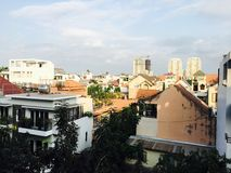 Edificios del horizonte de Vietnam Foto de archivo libre de regalías