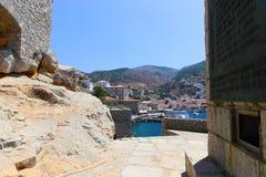 Edificios del Hydra - isla de Grecia Imagen de archivo libre de regalías
