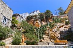 Edificios del Hydra - isla de Grecia Imagenes de archivo