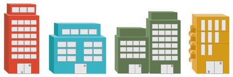 edificios del icono 3D Fotos de archivo