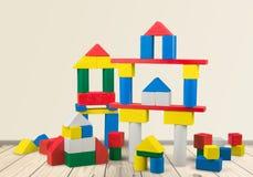 Edificios del juguete Fotos de archivo libres de regalías