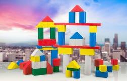 Edificios del juguete Foto de archivo libre de regalías