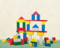 Edificios del juguete Imagen de archivo libre de regalías