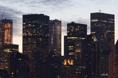 Edificios del Lower Manhattan NYC Imágenes de archivo libres de regalías