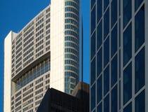 Edificios del negocio en el distrito financiero de Francfort, germen Foto de archivo
