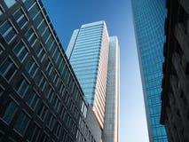 Edificios del negocio en el distrito financiero de Francfort, germen Fotos de archivo libres de regalías