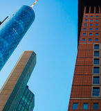 Edificios del negocio en el distrito financiero de Francfort, germen Imagen de archivo