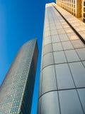 Edificios del negocio en el distrito financiero del franco Foto de archivo